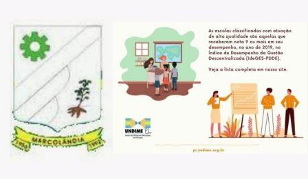 MARCOLÂNDIA de parabéns por aparecer na relação dos 75 municípios do Piauí, conforme dados oficiais da UNDIME Brasil