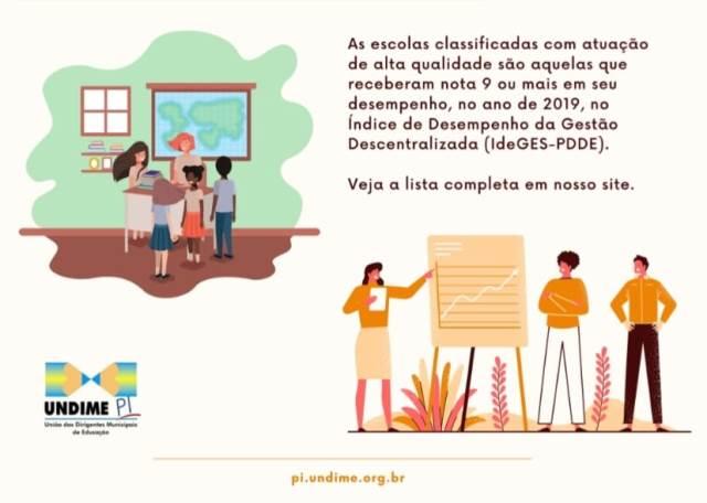 UNDIME Brasil, informa que das 75 redes municipais de ensino do Piauí, Fronteiras aparece na relação