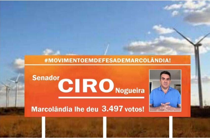 MOVIMENTO em defesa de Marcolândia está a confeccionar OUTDOORS pora mostrar a falta de lealdade do senador CIRO Nogueira