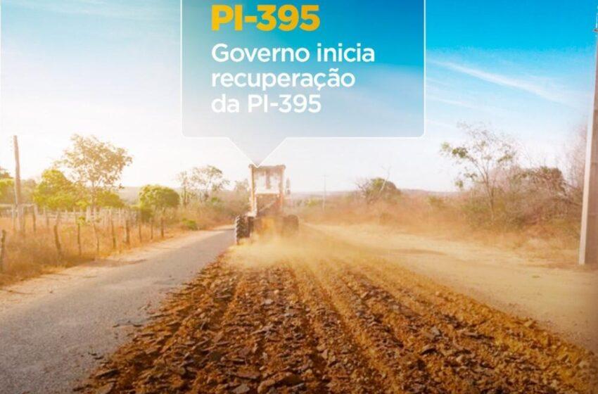 GOVERNO a recuperar a PI-395, principal via de acesso a Palmeira do Piauí