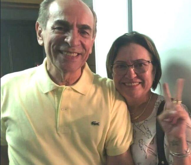 SECRETÁRIA Verônica Maria, que aparece ao lado da maior liderança do MDB do Piauí, tem motivos para comemorar