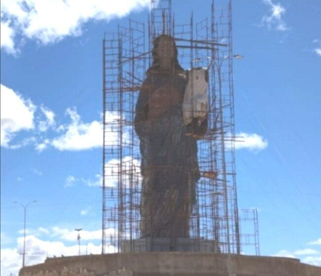 IMAGEM de Nossa Senhora da Penha, no seu formato na cidade de Campos Sales, faltando tão somente os retoques finais