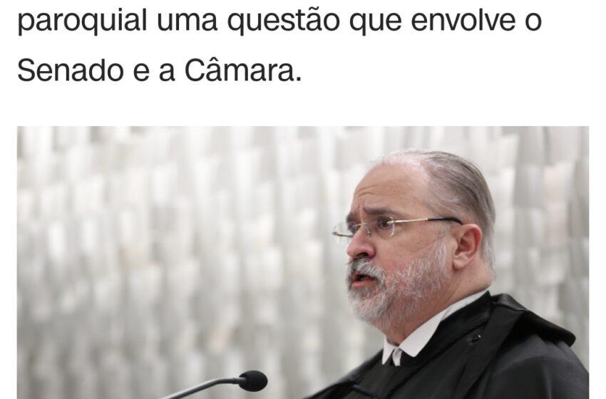 EX-MINISTRO do STF diz que Aras errou ao citar voto sobre reeleição legislativa
