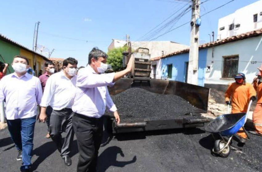 WELLINGTON Dias visita e entrega obras de mobilidade urbana em Picos