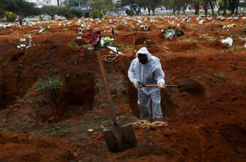 BRASIL registra 721 mortes e 34.027 novos casos de Covid-19 em 24 horas