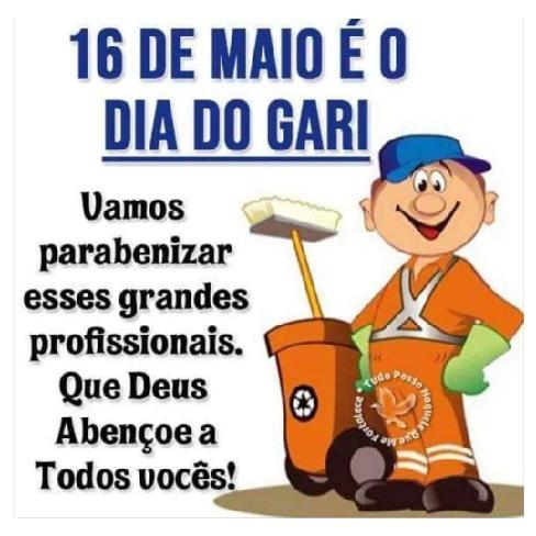 SAUDAÇÃO toda especial do ex-prefeito de Campos Sales, Moésio Loiola, aos GARIS e outras classes igualmente importantes na passagem do seu Dia