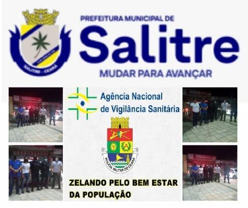 VIGILÂNCIA Sanitária de Salitre se reuniu com o sargento PM Rafael Eloi, para fazer cumprir o Decreto Municipal Nº 31/2021