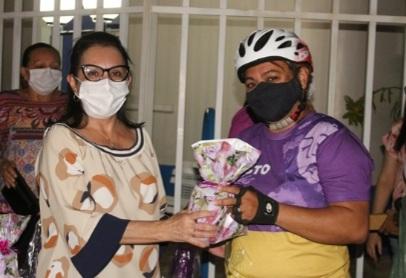 """SIMÕES que tem como prefeito o Zé Wlisses, viveu importante dia de """"ciclismo feminino"""" em alusão ao agosto lilás"""