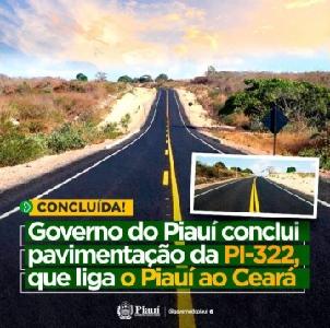 LIGAÇÃO histórico entre o Piauí e o Ceará tem mais um elo: PI-322
