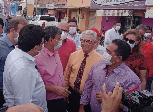 GOVERNADOR Wellington Dias e sua comitiva recebidos calorosamente na região